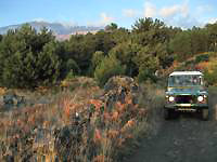 land rover and Etna volcano